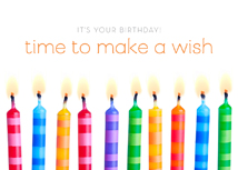 Wish Time! Happy Birthday Card