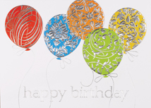 Designer Balloons Happy Birthday Card