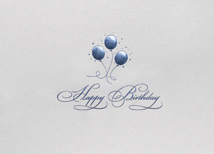 Balloon Trio Birthday Greeting Card