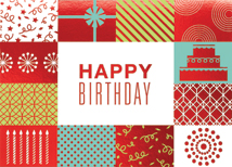 Collage of Wishes Birthday Greeting Card